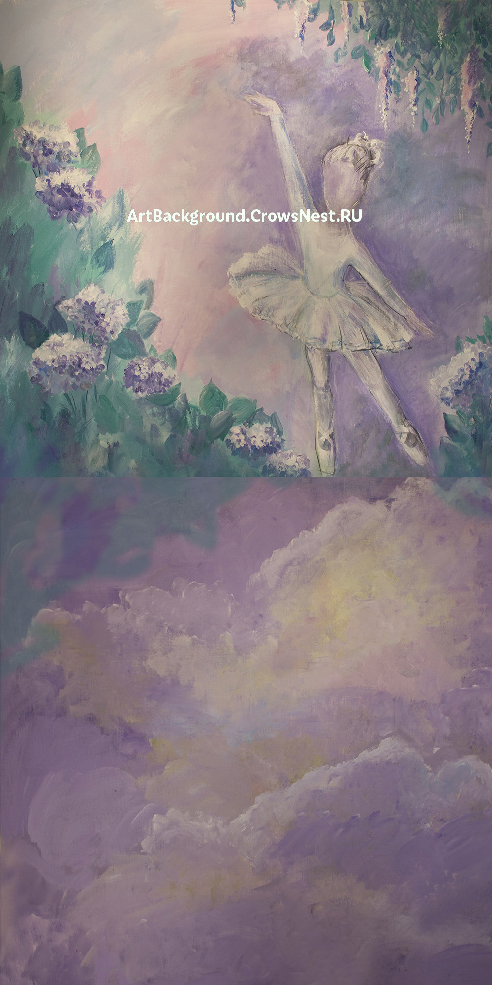 """Фотофон """"Балерина"""" комбинированный 150x300 см"""