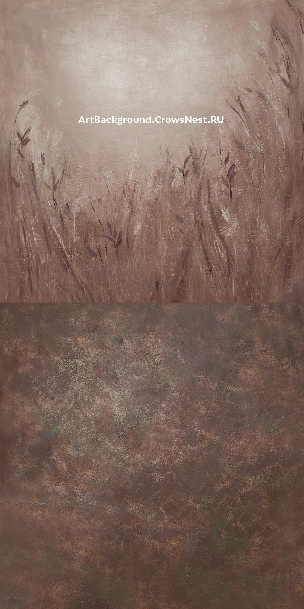 """Фотофон """"Поле"""" комбинированный 150x300 см"""
