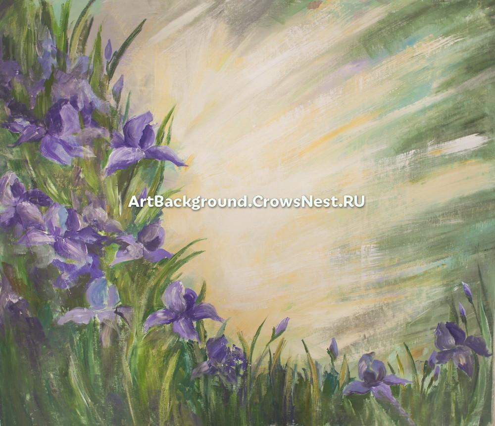 "Backdrop ""Irises at the sun"""