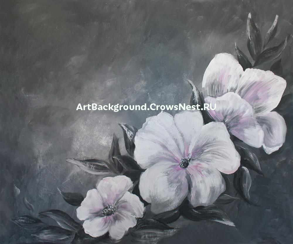 """Фотофон """"Белые цветы"""""""
