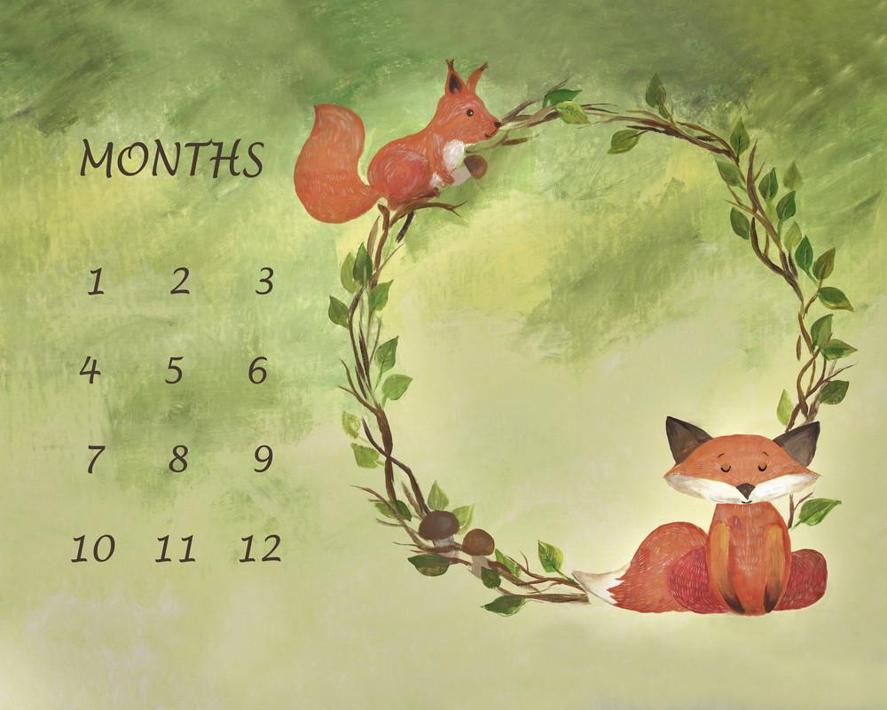 """Backdrop for moms """"little fox"""""""